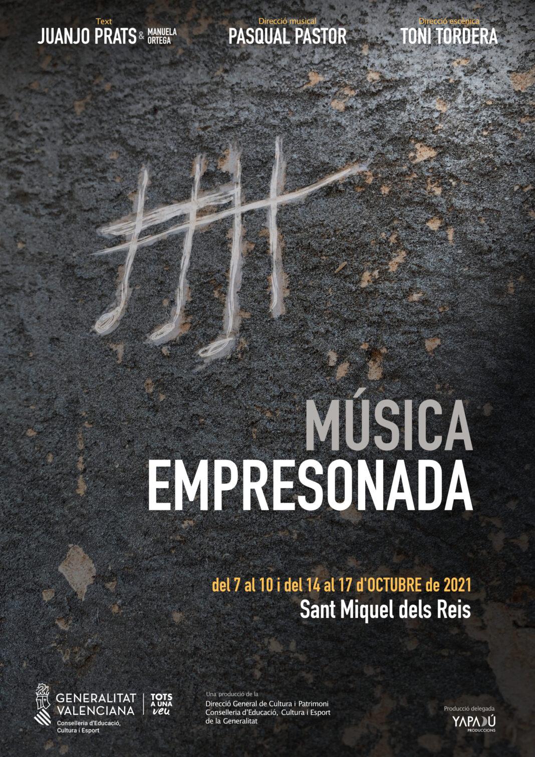 'Música empresonada' inicia la segona setmana de funció amb entrades disponibles per al 14 d'octubre